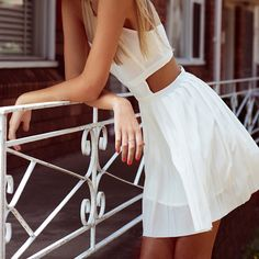 // little white dress - is cute