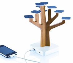 Solar powered battery charger for USB and mini USB
