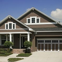 great exterior paint colors with brown roof | Tips for Choosing ...