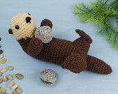 Sea Otter amigurumi PDF CROCHET PATTERN