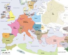 Here are some maps showing how Europe changed every century for the past years. You'd see a lot of changes when looking at a map of present day Europe and comparing it to a 30 year old one. European History, World History, Family History, Old World Maps, Old Maps, Historia Universal, Early Middle Ages, Mystery Of History, Interesting History
