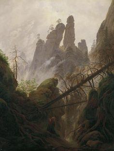 Caspar David Friedrich - Felsenlandschaft im Elbsandsteingebirge 1822u