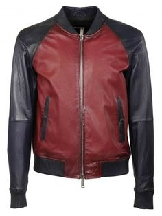 DSQUARED2 Dsquared2 Contrasted Leather Bomber Jacket. #dsquared2 #cloth #https: