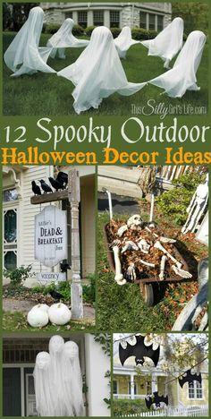 12 Spooky Outdoor Halloween Decor Ideas, a collection of fun and spooky Halloween decor ideas for your yard!