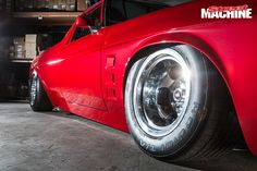 Old-fashioned aesthetics merge with a red-hot engine and modern build quality in his old-school HZ Holden ute street machine Australian Muscle Cars, Hot Rods, Old School, Classic Cars, Ford, Street, Drive Way, Roads, Vintage Cars