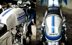Does it get better than cruising around on a vintage motorcycle, like this Ducati Desmo?
