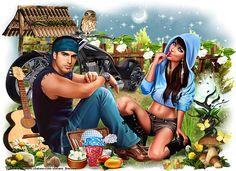 Artist: Zlata_M Tube: Netta and Cowboy