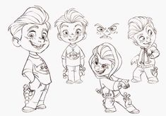 Cartoon Drawing Tips - Drawing On Demand Character Design Challenge, Character Design Animation, Character Design References, Kid Character, Character Drawing, Character Concept, Cartoon Sketches, Cartoon Styles, Art Sketches