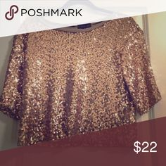Gold crop top Beautiful sequince top Tops Crop Tops