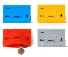 London-based illustrator and graphic designer Haniboi creates a great silicone cassette tape wallet.