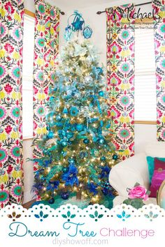 Ombre Christmas Tree by @DIY Show Off #JustAddMichaels