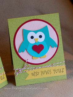 Set of 2 Handmade Valentine Cards