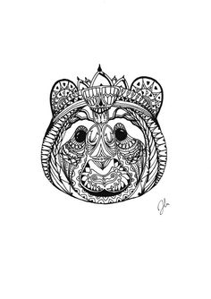 Pen & Ink drawing of a panda by SomeCatchyName on Etsy