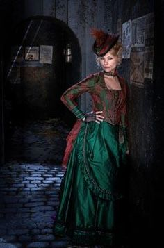 Ripper Street ...  great style and what a marvelous green.  Iridescent like a bird in full feather!!!