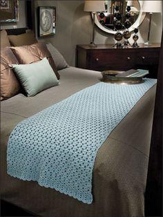 Turquoise Treasure Crochet Bedspread Crochet Bedspread Pattern Bed Scarf