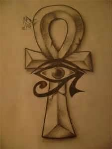 Ankh Cross With The Right Eye Of Horus Tattoo Designed For Juan In My