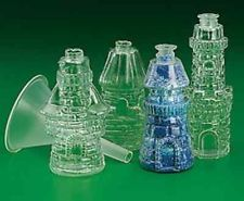 NEW Plastic Castle Sand Art Bottles (Pack of 12) - Tiny