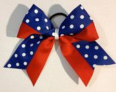 Red, White, and Blue Ribbon Cheer Bow