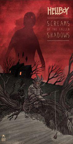 hellboy screams of the fallen shadows by Sebastian Skrobol, via Behance