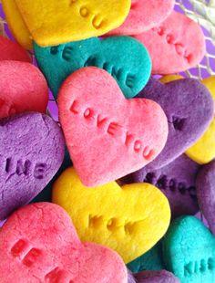 Purple Chocolat Home: Conversation Heart Cookies