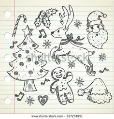 set of object related to #Christmas  - stock #vector #design #graphic #doodle #sketch #element