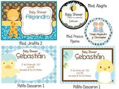 Invitaciones, Recuerdos, Baby Shower, Kit Imprimible - $ 160.00 en MercadoLibre