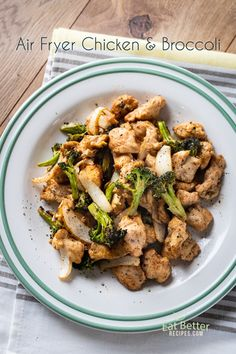 Best chicken and broccoli recipe in the air fryer. Healthy stir fried chicken broccoli, Asian sauce that's air fried. Easy Asparagus Recipes, Broccoli Recipes, Chicken Recipes, Chicken Broccoli Stir Fry, Fried Chicken, Baked Fish Fillet, Asian Stir Fry, Easy Healthy Dinners, Healthy Options