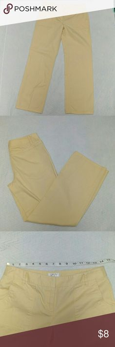 3 for 15$ Ann Taylor Loft 4P Light Yellow Pants Ann Taylor Loft Size 4 petite Light pastel yellow In good used condition LOFT Pants Straight Leg