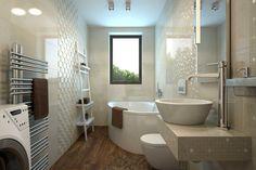 Návrh a 3D vizualizácia kúpeľne Corner Bathtub, Home Interior Design, Bathroom, House, Washroom, Home, Full Bath, Interior Design, Bath
