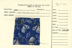 Conversational floral print on cotton. January 27, 1887. Unknown manufacturer.