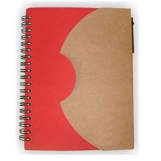 caderno personalizado CD041 fechado vermelho