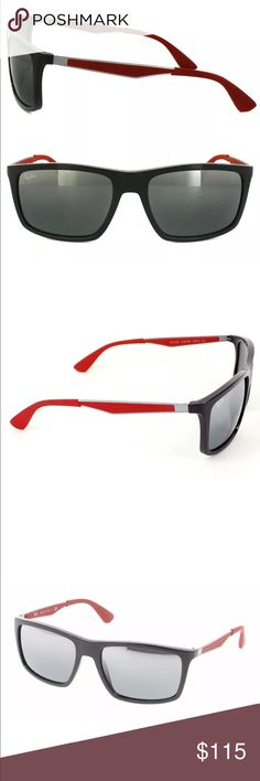 RAY-BAN RB 4228 6185/88 Red Sunglasses STYLE: RAY-BAN RB 4228 6185/88  COLOR: SHINY GRAY BLACK RED FRAME/SILVER GRAY MIRRORED LENS  GENDER: MALE  THESE SUNGLASSES ARE 100% AUTHENTIC OR YOUR MONEY BACK GUARANTEED!! THIS WILL COME IN ITS ORIGINAL CASE AND MANUFACTURERS PAPERS. IF YOU HAVE ANY QUESTIONS OR INQUIRIES OF ANY SORT, DON'T HESITATE TO MESSAGE ME. Ray-Ban Accessories Sunglasses