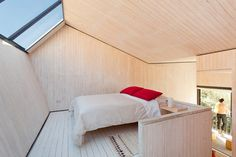 this is an observatory room at Elqui Domos hotel and observatory in Chile. you sleep under the stars.