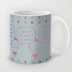FFF Gray Mug by Angry Little Girls - $15.00