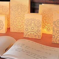 Love these paper bag lanterns