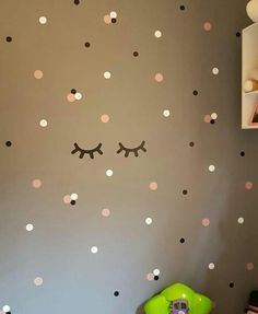 Polka Dot Walls, Polka Dots, Bedroom Decor, Wall Decor, Easy Diy, Minimalist, Nursery, House Design, Home Decor