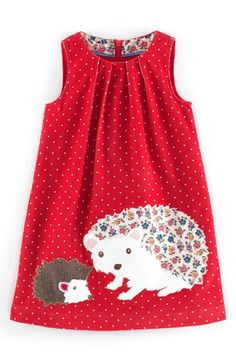Mini Boden Animal Appliqué Dress (Toddler Girls, Little Girls & Big Girls) available at #Nordstrom