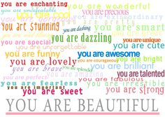 you are strong. you are beautiful. You are worth it. I believe low self esteem is the cause of many women's issues with food. You Are Smart, You Are Cute, You Are Strong, You Are Awesome, Amazing, You Are Wonderful, You Are Beautiful, Beautiful Words, Love Life Quotes