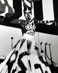 Grace Jones au concert du nouvel an 1987 au Roseland Ballroom à New York