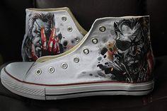 Unique Sneaker Walking Dead Men Women Hand Painted High Top Fashion Canvas  Trainer Painted Sneakers 8c5da86a1