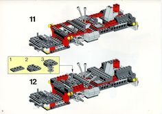 LEGO 5590 Whirl and Wheel Super Truck instructions displayed page by page to help you build this amazing LEGO Model Team set Lego Technic Truck, Lego Basic, Lego Sets, Lego Models, Lego Instructions, Planer, Projects To Try, Trucks, Toys