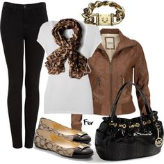 Black & Leopard Outfit - Be Stylish