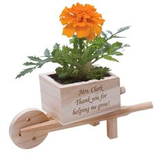 Unique Baby Shower Favors, Unique Wedding Favors, Bridal Shower Favors, Wooden Wheelbarrow, Mother Day Message, Personalized Teacher Gifts, Diy Projects For Beginners, Plant Holders, Place Card Holders