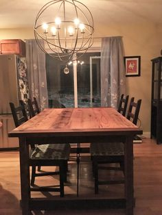 This custom design and build was done to the customers dimensions, design and made from reclaimed oak. Oak, Table, Custom Dining Tables, Rustic Dining Table, Custom Design, Flooring, Furniture, Home Decor, Reclaimed Oak