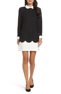 Main Image - Cece Jada Scallop Shirtdress (Regular & Petite)