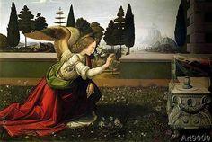 Leonardo da Vinci - Angel Gabriel, from the Annunciation, 1472-75