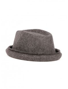 d436b78065a Anthracite wool hat Isabel Benenato for Man - serie