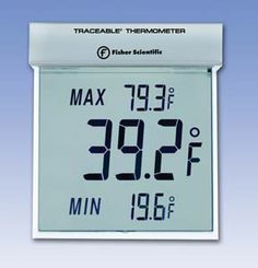 Fisher Scientific™ Traceable™ Big-Digit See-Thru™ Thermometer. Can be used in both indoor and outdoor settings!