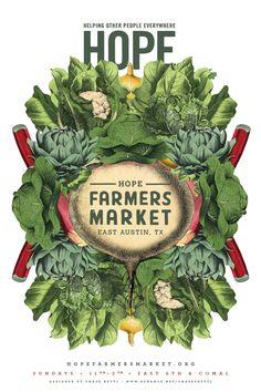 Hope Farmers Market Poster on Behance