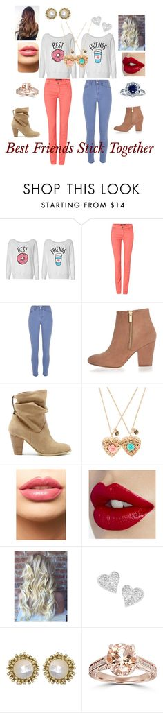 """""""Best Friends Stick Together"""" by rosiegallivan on Polyvore featuring Oui, River Island, Sole Society, LASplash, Vivienne Westwood, Kendra Scott, Bliss Diamond, Kobelli, women's clothing and women"""